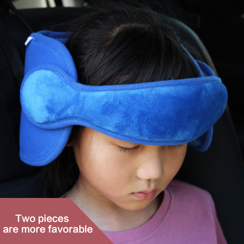 New Child Car Seat Head Support Comfortable Safe Sleep Solution Pillows Neck Travel Stroller Soft Caushion 2pcs