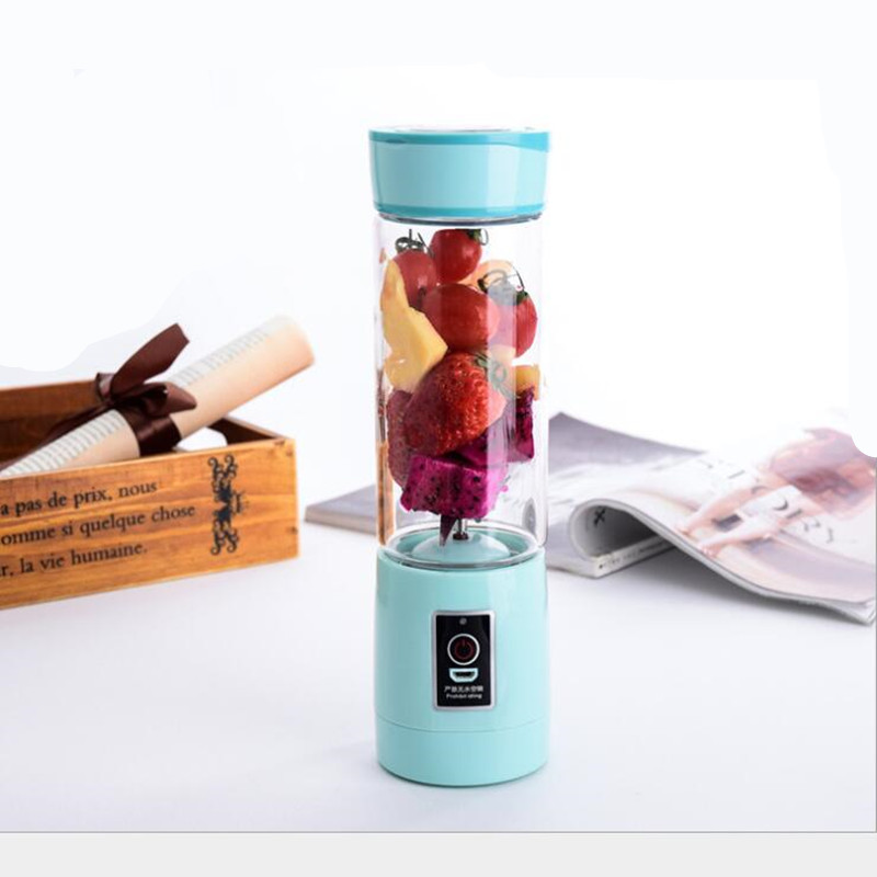 3 Colors Smoothie Maker Blender Shake Slow Juicer Mini Portable USB Rechargeable Electric Fruit Juicer Machine
