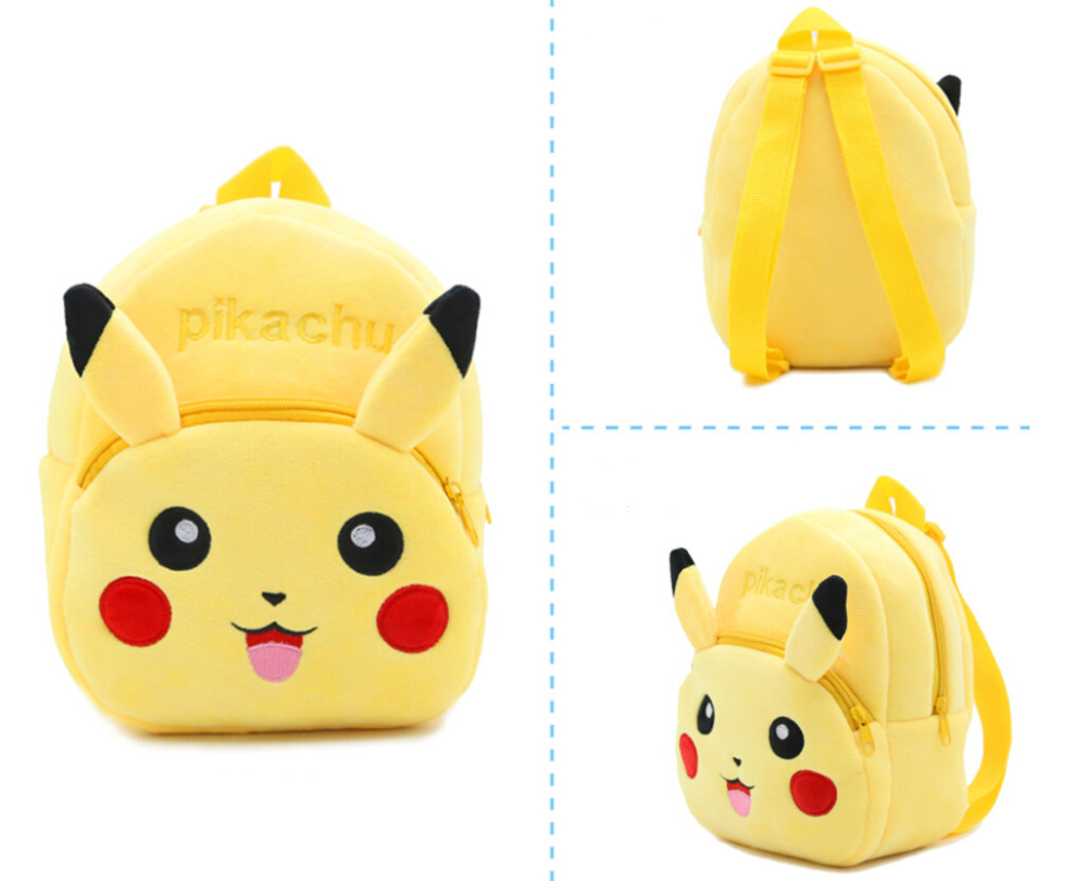 Mochila Feminina Pikachu Baby Plush Bag Catoon Cute Kids 3d Schoolbags Anime Pattern 9 Zipper Backpack Travel Gift For Child