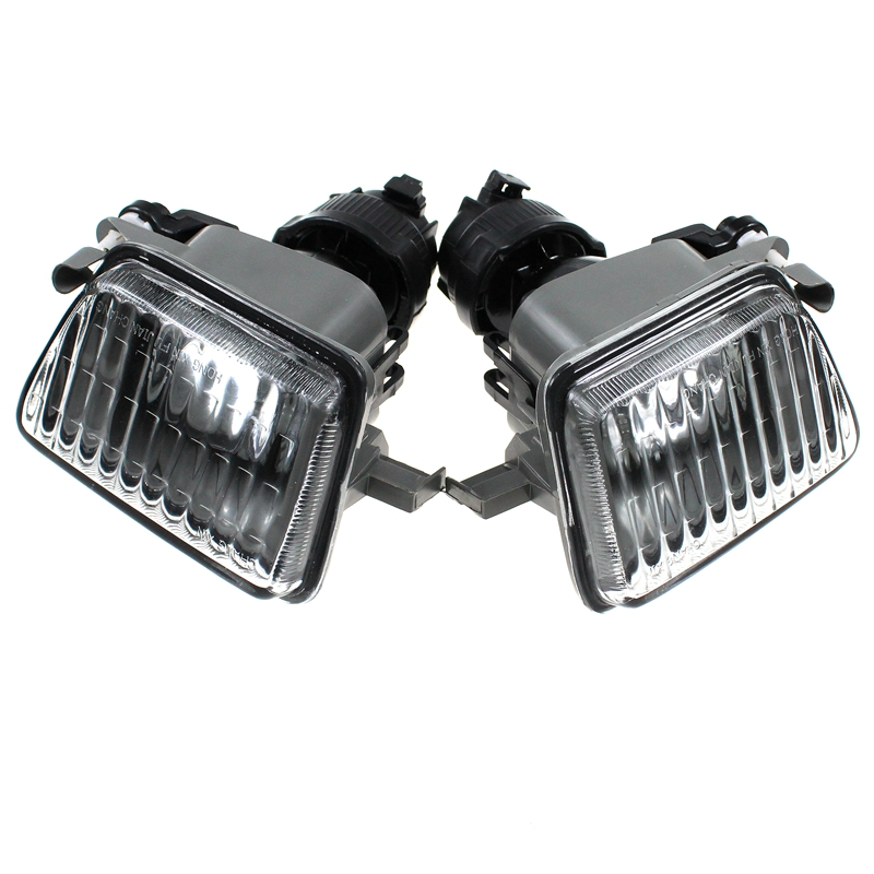 LARBLL 2PCS Left&Right Big Bumper PROJECTOR Clear Fog Light FOR VW 1985-1992 GOLF II / JETTA MK2 191941699 191941700 With Bulb 1pair 12v super bright light led fog light drl driving bumper grille for vw mk3 golf jetta 92 98 6000k