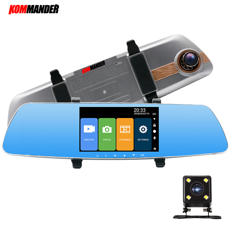 Kommander 5 Super Mirror Car DVR Camera with Touch Screen Car DVR Night Vision Review 1080P dashcam Camera Recorders image