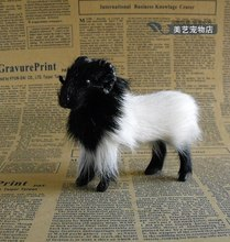 simulation small  goat 10x4x9cm toy model polyethylene&furs goat model home decoration props ,model gift