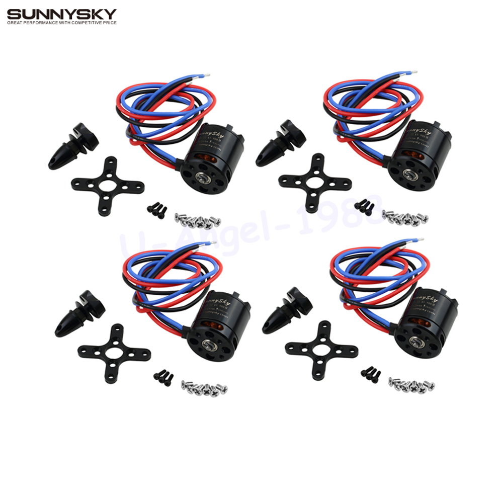 4set lot Sunnysky V2216 900KV 800KV Brushless Motor for 4 axis Multiaxial Quadrocopter Multirotor Hexa Aircraft