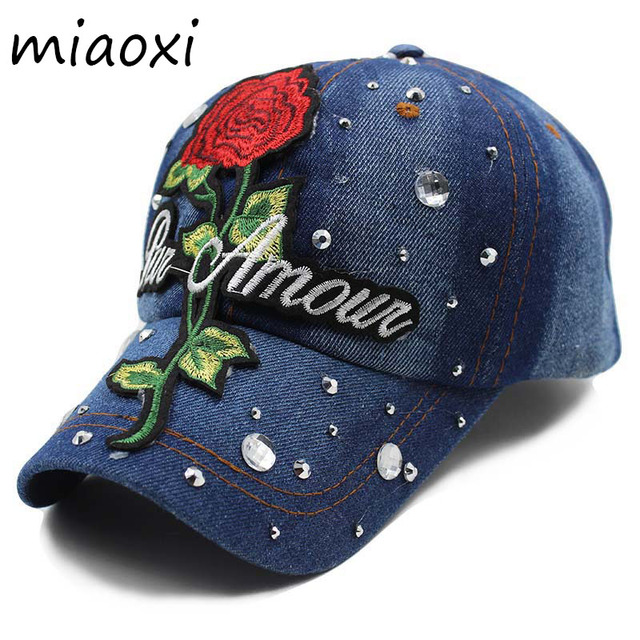30adcaf4cf7 ... miaoxi Top Sale Women Summer Baseball Caps Girls Cap Hats Floral Rose  Adjustable Cotton Snapback Hip ...