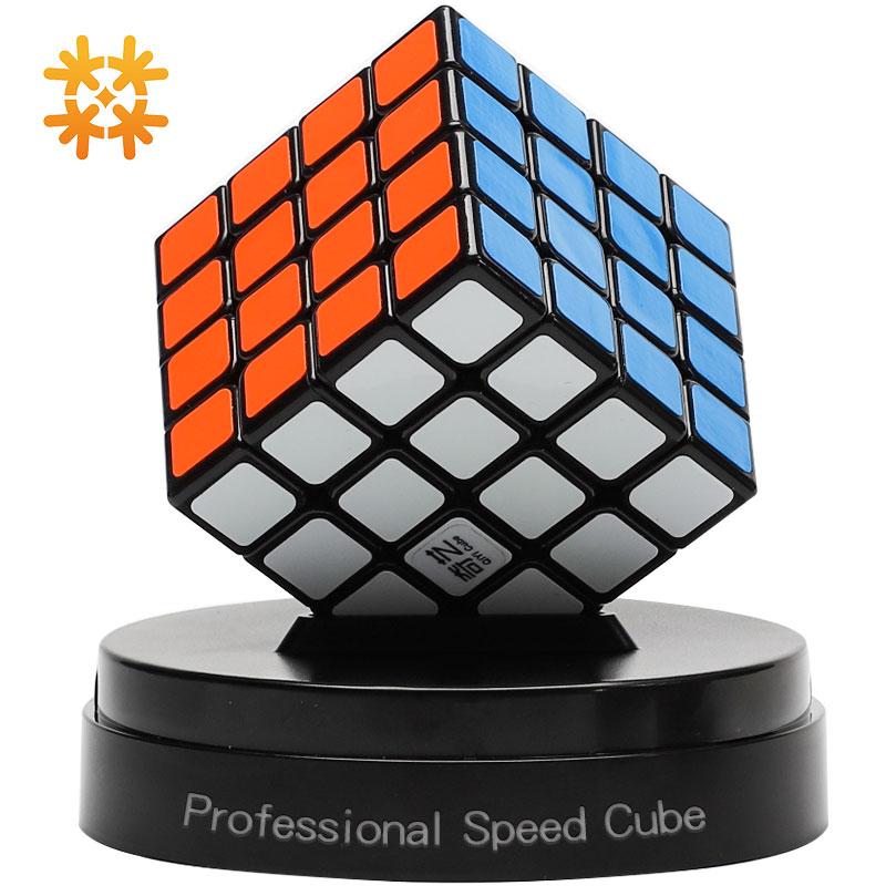 QiYi QiYuan 4X4X4 Rubiks Cubos Mágicos Profissional Velocidade Puzzles Cubos Mágicos Adesivo Fidget Brinquedos Para Adultos brinquedos de aprendizagem Para O Miúdo