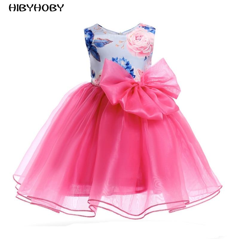 c532533c0ec HIBYHOBY 2018 Νέο κορίτσι μπάλα φόρεμα Αμάνικο κορίτσι βραδινά ...