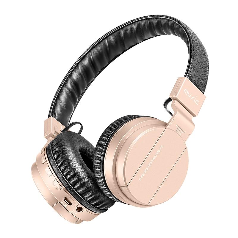 Bluetooth наушники с микрофоном MP3 плеер Беспроводной наушники Поддержка TF карты FM радио бас Гарнитуры Hands для iPhone Xiaomi PC
