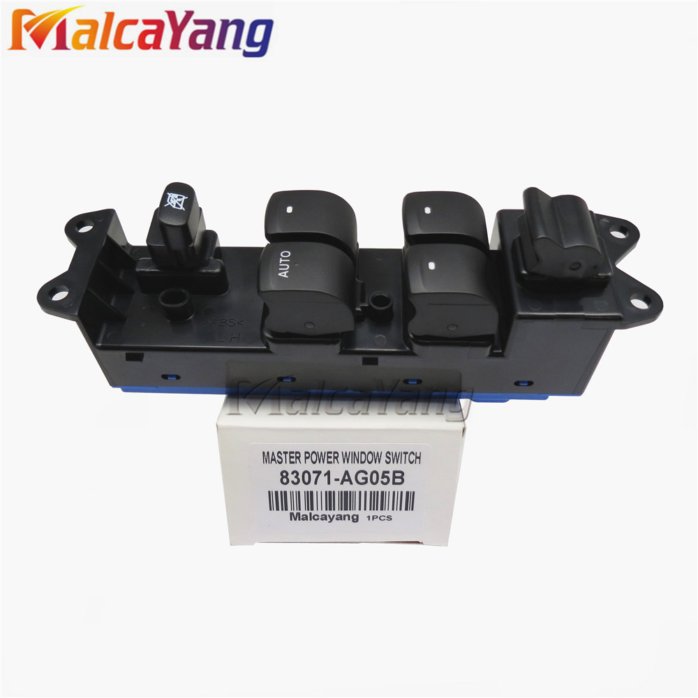 New Front Left Driver Side Electric Power Master Window Switch 83071-AG05B 83071AG05B For 2005-2009 Subaru Legacy Outback XT недорго, оригинальная цена
