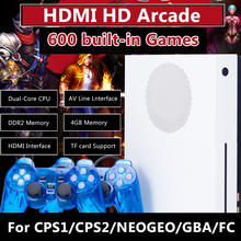 New 4GB 600 Classic Games HD TV Game Consoles Video Game Console Support HDMI TV Out For CPS1/CPS2/NEOGEO/Arcade/GBA/MD Format