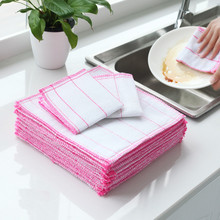 1pc Five-layer Cotton Gauze Absorbent Dish Cloth Kitchen Plate Bowl Cleaning Wash Towel Oil-free Clean Rags