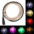 20M 200 LEDs Silver Wire String Fairy Light Christmas Outdoor Decor LED String Lights Wedding Party Lighting DC12V 9 Colors