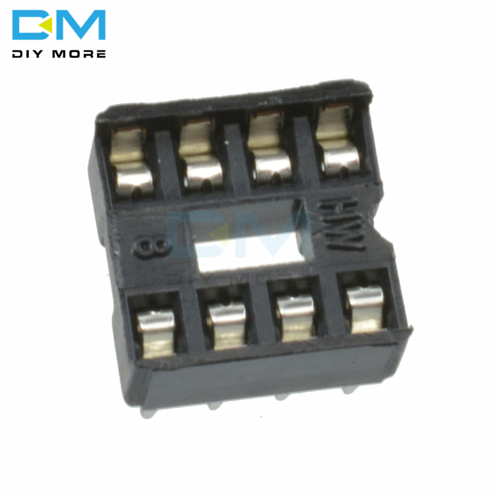 50PCS 8Pin Round IC DIP SIP Sockets Adaptor Solder Type plated machined