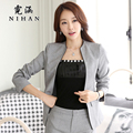 Han Ni autumn and winter wear long-sleeved pants suit women's suits career suit dress suit overalls Taoku
