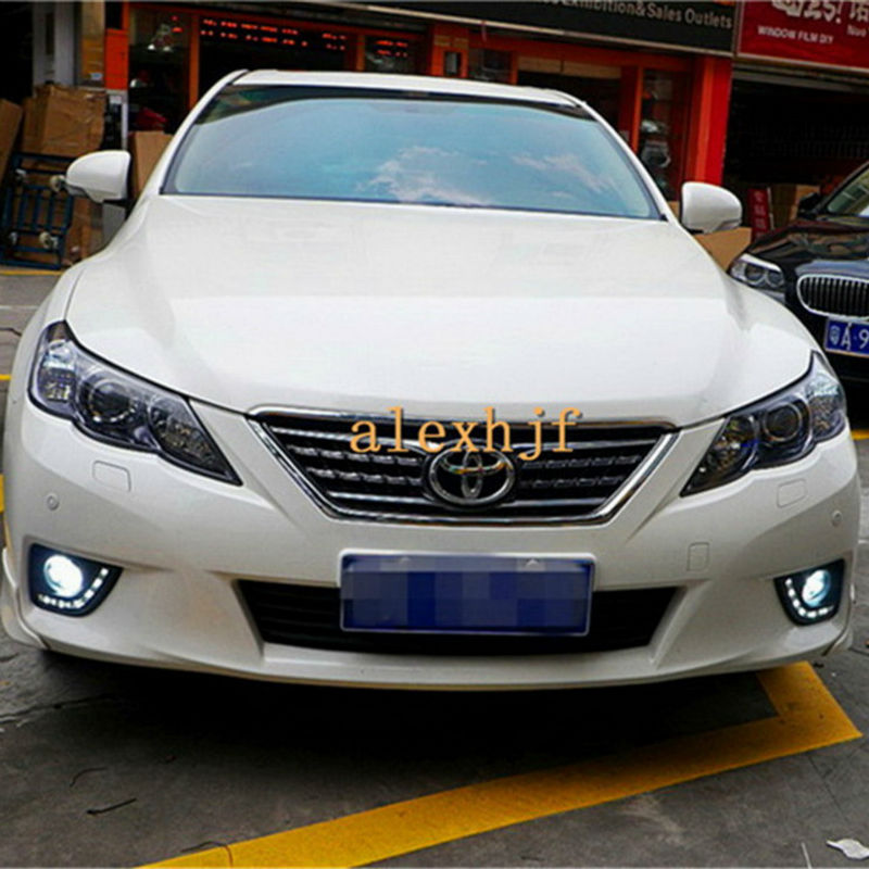 July King 18W 6LED 6500K LED Daytime Running Lights LED Fog Lamp Case for Toyota Camry Aurion Coaster Corolla Axio Auris Fielder special car trunk mats for toyota all models corolla camry rav4 auris prius yalis avensis 2014 accessories car styling auto