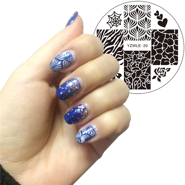 1 Pc Nail Art Stamp Stamping Plates Template Flower BOW Leopard Design Image Plate Stencil for Nails