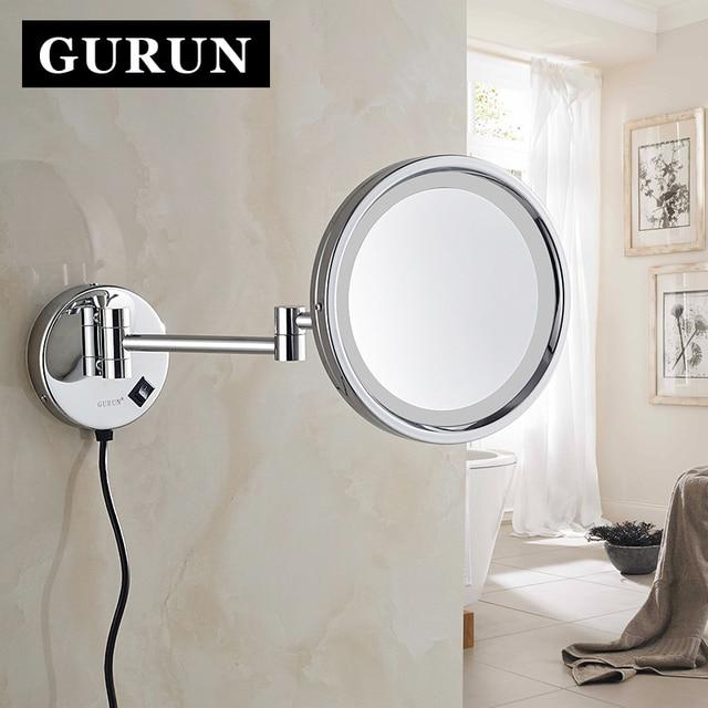 Gurun LED Make Spiegel 8 Inch Messing Cosmetische Spiegel 10X ...