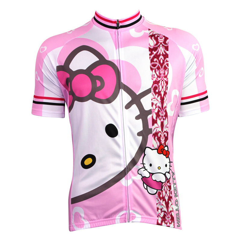 New Womens Cycling Jersey Comfortable Bike Bicycle Shirt Cartoon