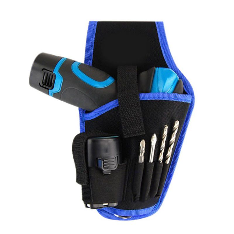 Portable Waterproof Drill Holder Holst Pouch Cordless Tool Oxford Cloth Drill Waist Belt Tool Bag