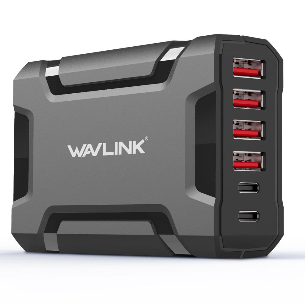 Wavlink 60W/12A 6 Port USB 3.0 fast Charger HUB Station