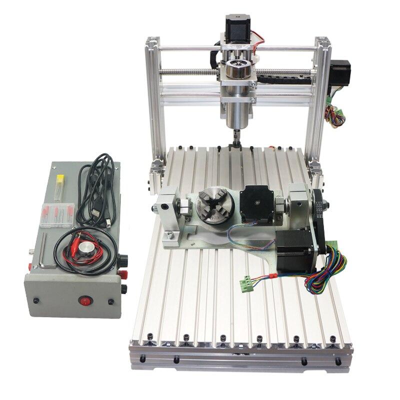 ミニデスクトップCNCマシン3060 Diy CNCルーター400w 5軸木製PCBフライス盤ncルーター5軸