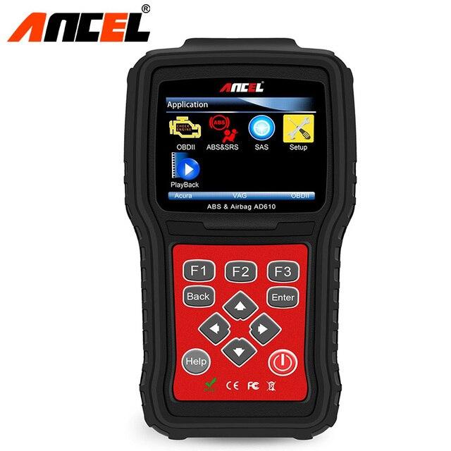 Ancel Car Diagnostic Tool OBD2 AD610 OBD 2 Code Reader Engine ABS SRS Airbag Air Bag SAS Crash Data Reset OBD Automotive Scanner