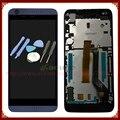 Display lcd com digitador da tela de toque para htc desire 626 626d assembléia com frame preto + ferramentas frete grátis