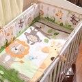4 шт. детские кроватки постельных принадлежностей Прекрасный Животных Обезьяна жираф Кроватки бампер Набор Детей постельных принадлежностей мальчик девочка постельные принадлежности бамперы кровать детская кроватка протектор
