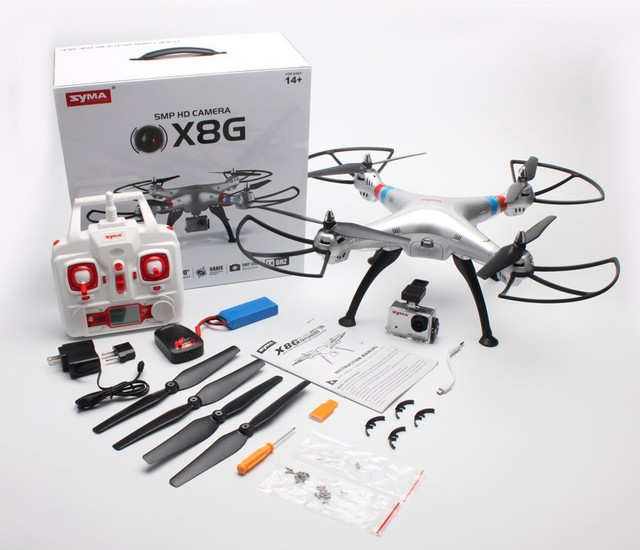 Extra batteries Syma X8G FPV drone W/ 8MP Wide Angle 1080p Camera RC Helicopter Vs MJX X101 Walkera QR X350 CX20 RC Quadcopter