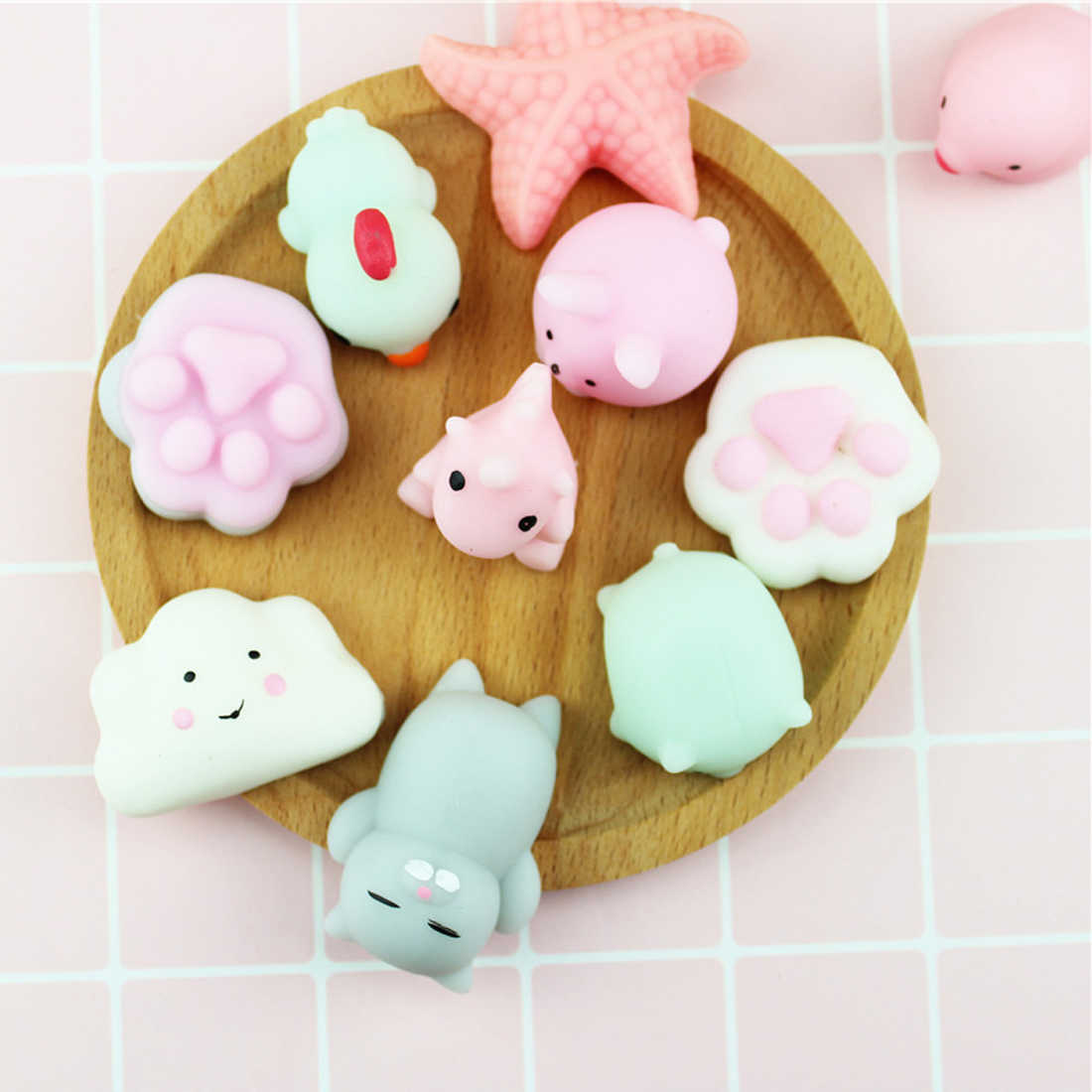 Etmakit Mini Squishy toy Seal Cute Phone Straps Slow Rising Soft Press Squeeze Kawaii Bread Cake Kids Toy Phone DIY Accessories