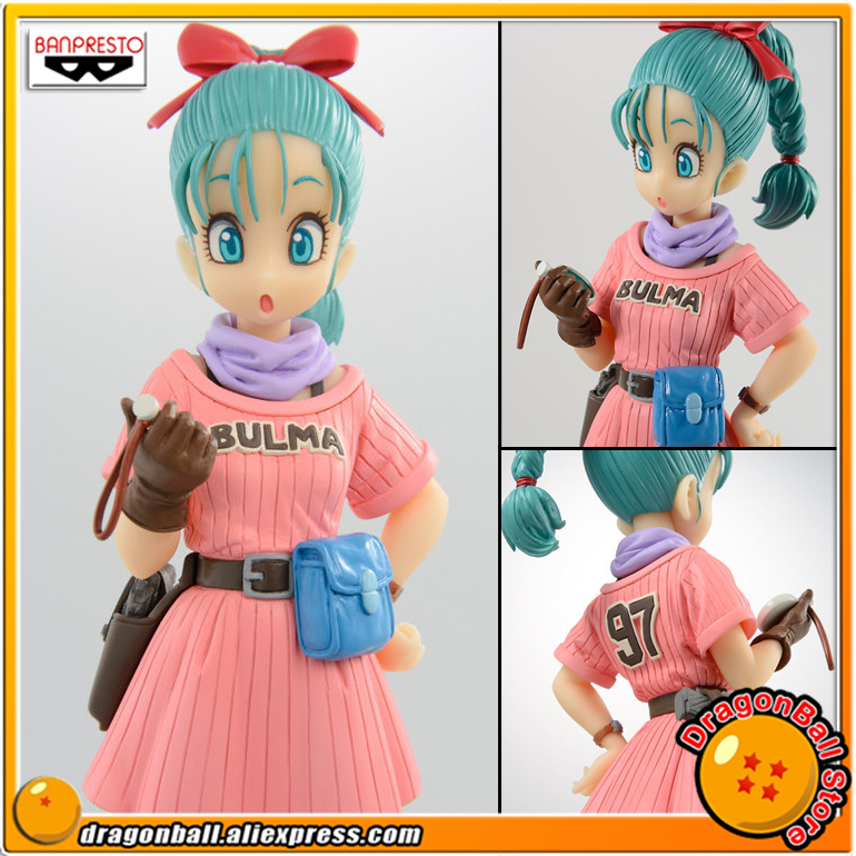 Japan Anime Dragon Ball Original Banpresto Scultures Colosseum BIG Zoukei Tenkaichi Budoukai 7 Vol.5 Collection Figure - Bulma dragon ball original banpresto scultures big zoukei tenkaichi budoukai collection figure lunchi launch rosso color ver