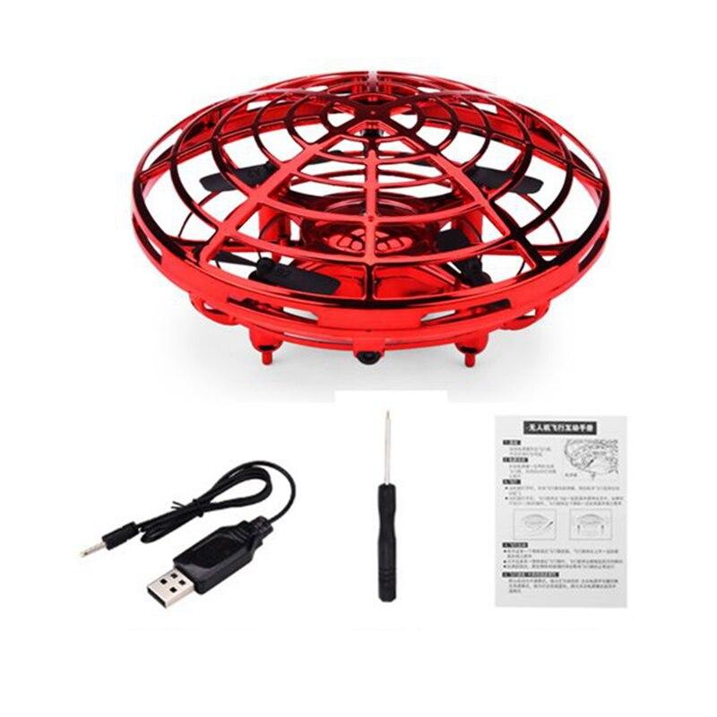 Купить с кэшбэком Anti-Collision Hand UFO Ball Flying Aircraft RC Toys Led Gift Suspension Mini Induction Drone For Children Boys