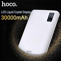 HOCO 30000mAh Power Bank 3USB Portable External Mobile Battery Fast Charger LCD Poverbank For Xiaomi MI iPhone Samsung Galaxy
