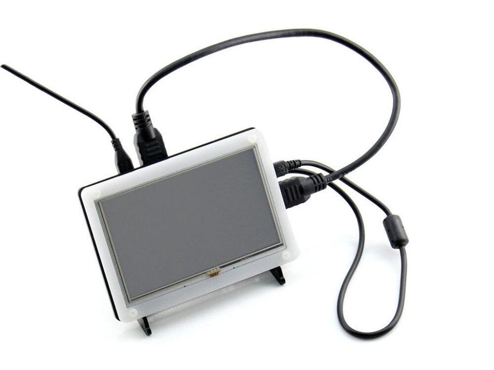 Waveshare 800*480 5 pouces HDMI LCD (B) avec bicolor Cas Résistif Écran Tactile Soutien Raspberry Pi Banane Pi/Pro BB Noir etc