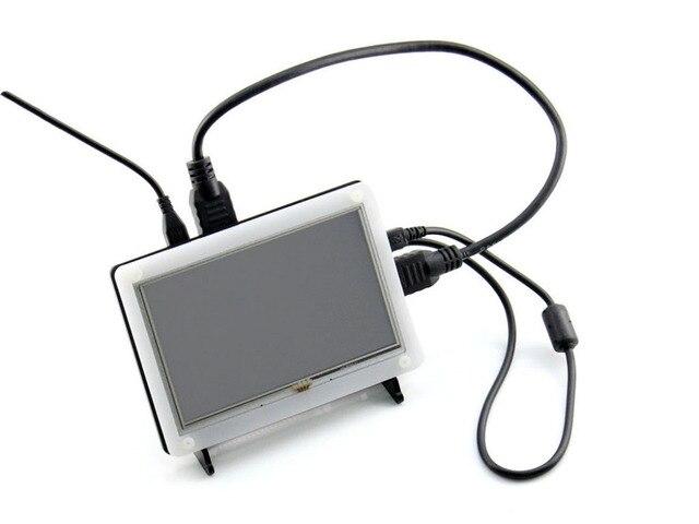 Waveshare Raspberry Pi 5 дюймов HDMI LCD B) с Случае Сенсорный Экран Поддержка RPi 2 B/A +/B +/B 3 Banana Pi/Pro BeagleBone Черный