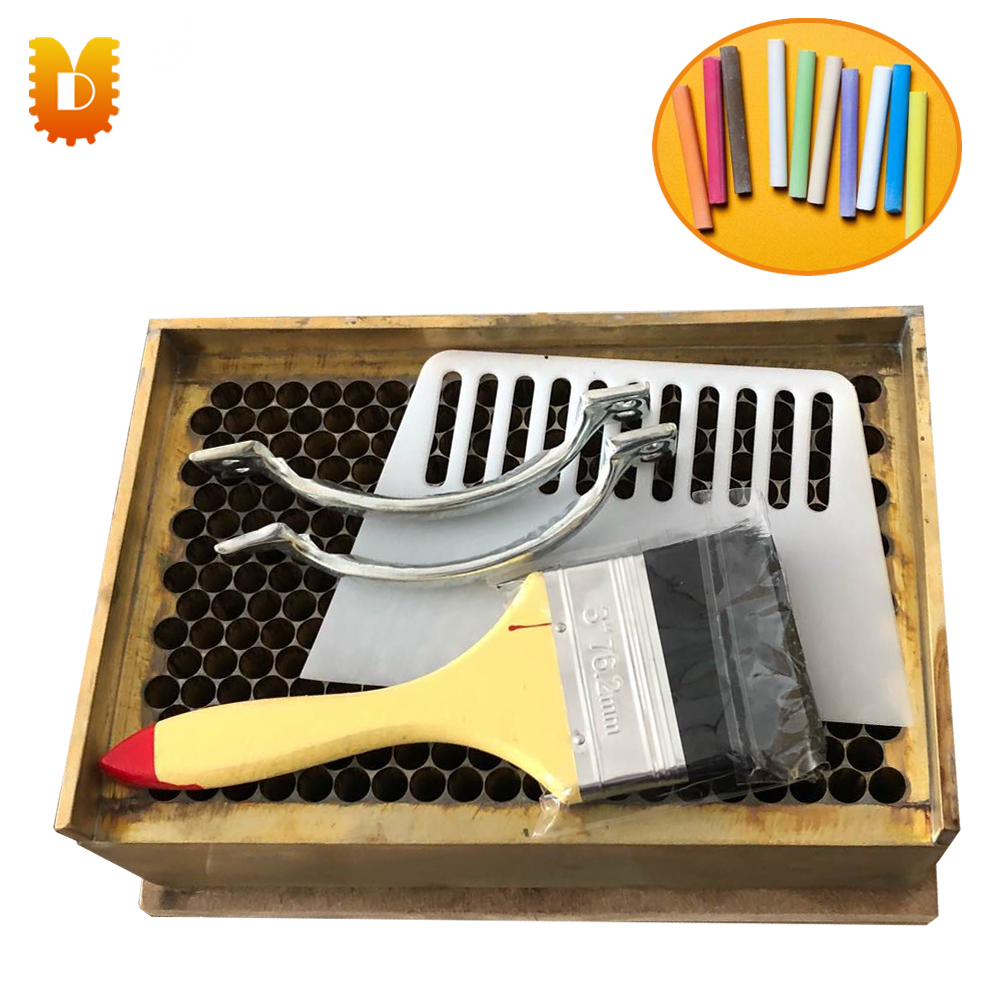 Copper mould chalk machine dustless chalk machine school chalk making machine 10pcs pack korea colorful chalk dust free chalk non toxic chalk