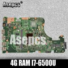 Asepcs X555UA Motherboard Laptop UNTUK For Asus X555UJ X555UF F555U X555UB X555UQ X555U 100% Test Asli Mainboard 4G Ram I7-6500U(China)