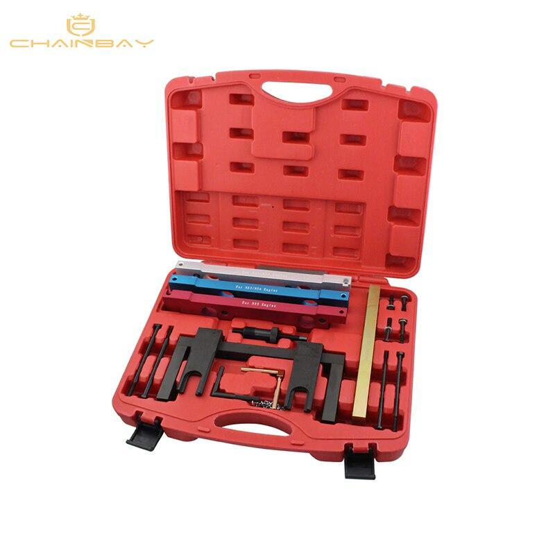 Outils de Garage de voiture pour BMW N51 N52 N53 N54 N55 arbre à cames Vanos ensemble d'outils de distribution de volant moteur