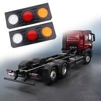 1 Pair LED Tail Light For Caravanas Truck Trailers IP67 Waterproof Auto Rear Stop Light Turn Signal Light Lamp