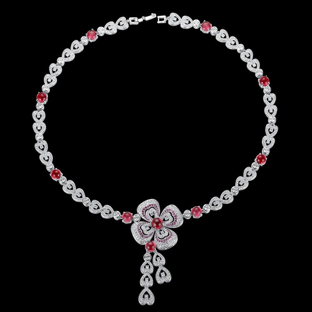 Luxe AAA cubique zircone fleur mariage pendentif collier bijoux pour Bridals élégant de haute qualité livraison gratuite