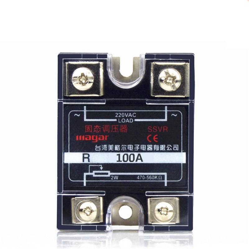 220V AC Single Phase Solid State Regulator SSVR 100A Resistance Value Of The Voltage Regulator Module normally open single phase solid state relay ssr mgr 1 d48120 120a control dc ac 24 480v