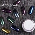 Espejo espejo de plata Brillo de Esmalte de Uñas de Gel en polvo powder uñas vtirka chrome polish nail powder Pigmento de Cromo