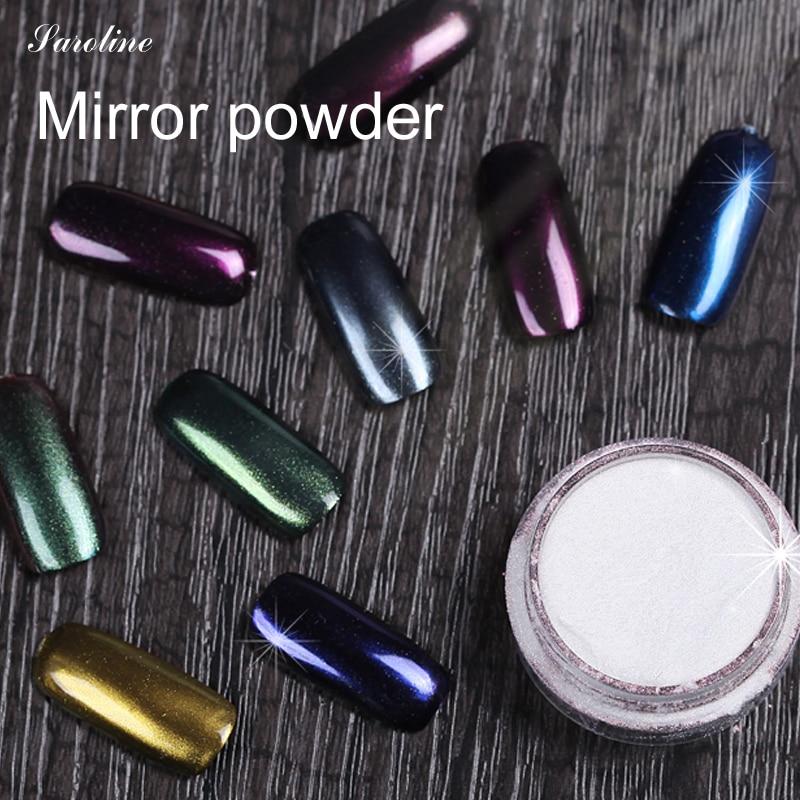 Chrome Nail Powder Gel: Mirror Powder Gel Polish Nail Glitter Silver Mirror Powder