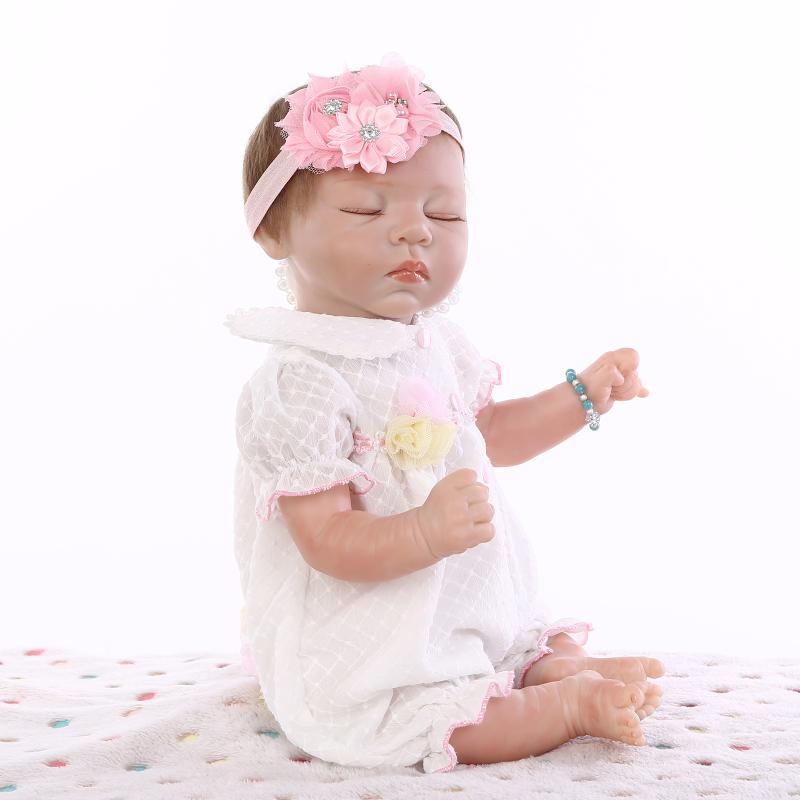 52CM real soft touch silicone reborn baby dolls/newborn babies  girl dolls baby real alive bonecas52CM real soft touch silicone reborn baby dolls/newborn babies  girl dolls baby real alive bonecas
