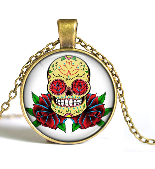 SUGAR SKULL NECKLACE (10 VARIAN)