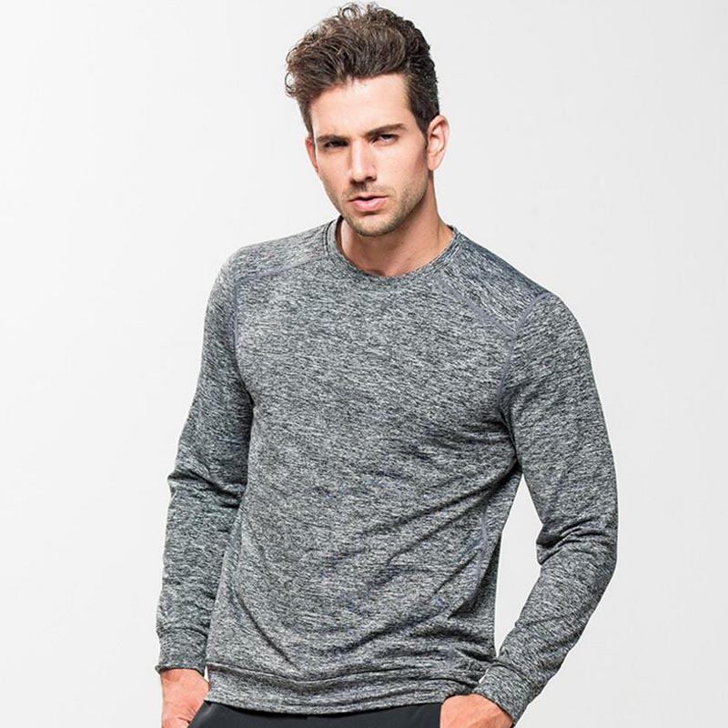 DICHSKI Fitness Men Long Sleeve Running Sports T Shirt Clothing Mens Thermal Bodybuilding Gym Compression Quick Dry Tights Shirt