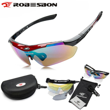ROBESBON Polarized Cycling Sun Glasses Outdoor Sports Bicycle Glasses Bike Sunglasses Goggles Eyewear 5 Lens Oculos Ciclismo