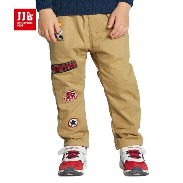 Сгустите мальчики рюшами брюки для детей зимние брюки полная длина флисовой подкладкой мальчики штаны детей зимние брюки марка