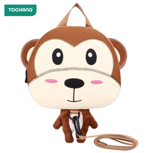 Baby Anti-Lost Walking Learning Strap Cute Kids Backpack Cartoon 3D Animal Harnesses Toddler Strap Walking Bag Safety Wristbands