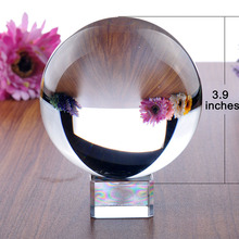Handmade 100mm Clear Crystal Magic Ball Home Decoration