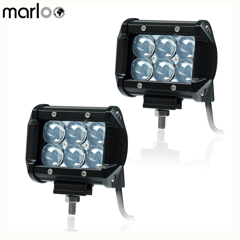 Marloo 2Pcs 30W 4x4 4D 5D LED Work Light Bar Spot Offroad Van 12V 24V 4x4 4WD ATV Truck Motorcycle Boat Tractor LED Work Lamp image